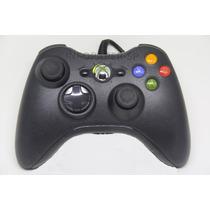 1 Controle Com Fio Xbox 360 Slim + 2 Baterias Xbox 360