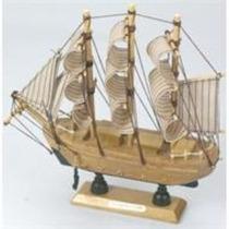 Veleiro Barco Madeira 20 Cm Coleções Decoração Viagem Navio