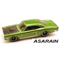 69 Dodge Coronet Super Bee Verde Garage Hot Wheels - 1/64