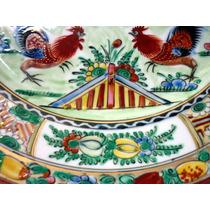 Maravilhoso Prato Pintado A Mão Em Porcelana Chinesa -dec.50