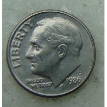 794 - Usa One Dime Liberty 1986, Letra D - Tocha 18mm