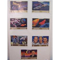 Cartela 7 Selos Manama Lote Filatelia Apollo 16 Espacial