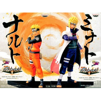 Kit 2 Bonecos Naruto E Minato 17 Cm - Figure Anime Manga