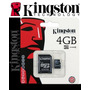 Micro Sdhc 4gb Kingston Original Lacrado + Adaptador Grátis