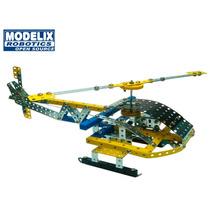 Brinquedo De Montar Modelix 504 Helicoptero Motorizado