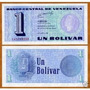 Venezuela 1 Bolívar 1989 P. 68 Fe Cédula - Tchequito