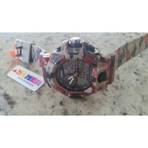 Relógio Camuflado S-shock Resistente À Água Skmei