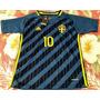 Camisa Seleção Suécia Azul 10 Ibrahimovic Frete Grátis