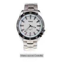Relógio Masculino Mike 8132 Stainless Steel Branco Quartz