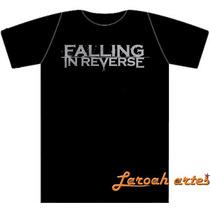Camiseta/ Baby Look Falling In Reverse Nome Lana Camisetas