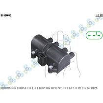 Bobina De Ignição Corsa 1.0 1.4 1.6 8v 16v Mpfi 98/...