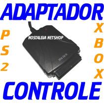 (( Adaptador De Controle )) De Playstation Psx Ps2 Para Xbox