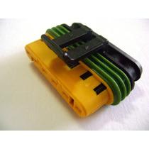 Conector 6 Vias Injeção Eletrônica, Vão Motor, Portas Fiat