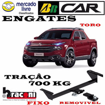 Engate Fiat Toro/ Braconi Traçao 700kg Inmetro