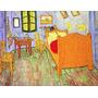 Quarto Cama Mesa Cadeira Reprodução De Van Gogh Na Tela