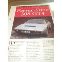 ( L - 430 ) Folder - Ferrari Dino 308 Gt 4