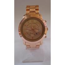 Relógio Feminino Dourado Grande! ***modelo Novo***