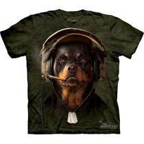 Camiseta Cão Cachorro Rottweiler 2 ( Com Fone ) The Mountain