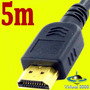 Cabo Hdmi 5 Metros 1.3v 26awg 1080i Mxm Full Hd Ps3 Lcd