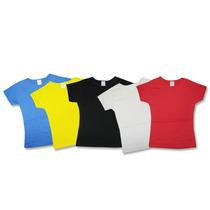 Camisetas Baby Look Feminina Lisa Várias Cores