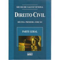 Livro Direito Civil Parte Geral Sílvio De Salvo Venosa