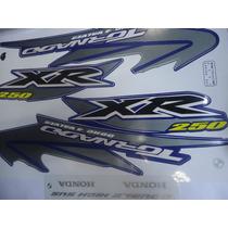 Adesivos Xr 250 Tornado 05 Azul Frete Grátis