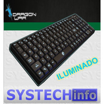 Teclado Gamer Dragon War Iluminado Darksector Usb Multimidia