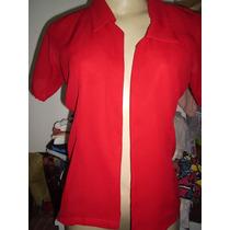 Camisa Feminina Crepe Vermelha 40