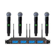 Atl-audio Ugx4v Ur2/beta58 Quadruplo (04 Microfones) Em 12x!