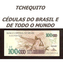 Brasil - 100000 Cruzeiros - C227 - S/fe Cédula C/leve Mancha