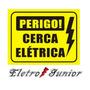 Kit Placa De Advertência Cerca Elétrica Super Reforçada C/10
