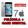 Capa Cristal + Pelicula Vidro Iphone 7 Silicone Apple Case