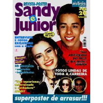 Revista-pôster Super Astros Especial 10 * Sandy & Junior