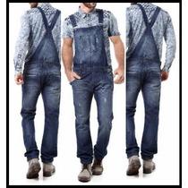 Macacão Jardineira Masculina Jeans Promoção