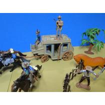 43 Peças Forte Apache Indios Cowboys Diligencia Totem Cavalo