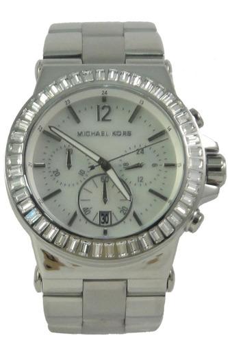 52e731ef62d72 Relógio Luxo Michael Kors Mk5411 Orig Chron Anal Prata!!!