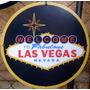Placas Decorativas Las Vegas Cassino Logotipo Classico