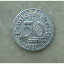 8151 Alemanha - 50 Pfennig 1921 D - Aluminio, 23 Mm