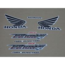 Kit Adesivos Honda Cg Titan 150 Esd 2009 Cinza - Decalx