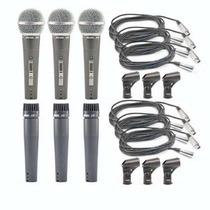 Kit 03 Microfones Arcano A-57 Ou A-58 = Shure ( Sm57 Sm58 )