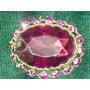 Lindo,elegante Broche Acrílico,cristais Roxos,itália,déc.60