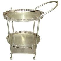 Carrinho De Chá De Prata 90 - Cód. 21131