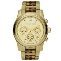 Relógio Michael Kors Mk5659 Dourado E Tartaruga Caixa/manual