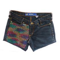 Short Jeans Paetês 40 Pano Velho Artesanal Em Promoção !!
