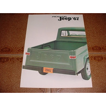 Folder Raro Willys Rural Picape Pick Up 67 1967