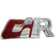 Par Emblema Adesivo Resinado Vw R Line Vermelho Prova D Agua
