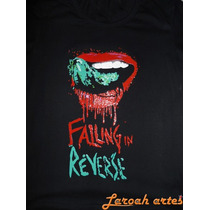 Camiseta/ Baby Look Falling In Reverse Lingua Lana Camisetas