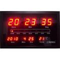 Relógio Parede Digital Led Herweg 6289 - Termometro - Calend