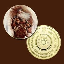 9672a - Egir - Deus Mit. Nórdica - Banhada A Ouro 24 K - 40