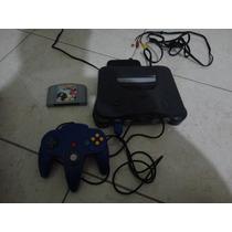 Nintendo 64 Com 1 Controle Original E Um Jogo Funcionando